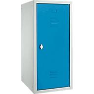 Locker, plaatstaal, B 400 x D 500 x H 1000 mm, veiligheidsslot met draaiende grendel, gemonteerd, lichtblauw