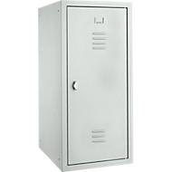 Locker, plaatstaal, B 400 x D 500 x H 1000 mm, veiligheidsslot met draaiende grendel, gemonteerd, lichtgrijs