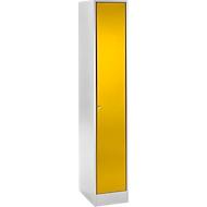 Lockerkast, lichtgrijs/geel