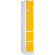 Lockerzuil S5 met cilinderslot, lichtgrijs/geel