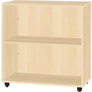 LOGIN boekenkast, 2 OH, B 800 x D 420 x H 744 mm, ahorndecor/ahorndecor