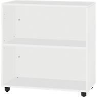 LOGIN boekenkast, 2 OH, B 800 x D 420 x H 744 mm, lichtgrijs/lichtgrijs