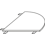 LOGIN verbindingsstuk met C-poten 1/4-cirkel, 800 x 800 x 740 mm, wit