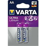 Lot de 2 Piles VARTA Professional Lithium, Mignon AA