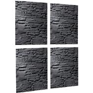 Lot de 4 panneaux magnétique verre artverum® 48 x 48 cm pierre-ardoise