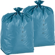 Lot de sacs poubelle DEISS premium, contenance 120 L, matériau PELD, 200 pièces