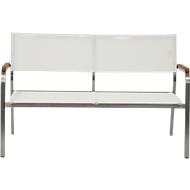 Lounge-Bank Lux, 2-Sitzer, weiß