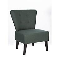 Lounge fauteuil BRIGHTON, stofbekleding, vintage look, massief houten poten, antraciet