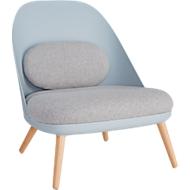 Lounge fauteuil, gestoffeerd, B 700 x D 655 x H 755 mm, 4-poten, blauwgrijze zitschaal