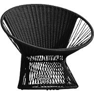 Lounge-Sessel Ray, schwarz