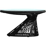 Lounge-Tisch Ray mit Glasplatte, schwarz