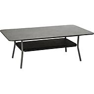 Lounge-Tisch Space, 130x80 cm, wetterfest, Aluminiumgestell, Ablagefach