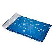 Luchtkussenenveloppen voor Kerstmis Blue Snowflake, met zelfklevende sluiting, 3 stuks