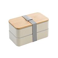 Lunchbox, Natur, Standard, Auswahl Werbeanbringung optional