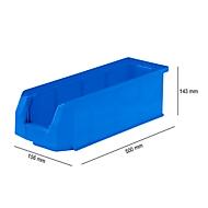 Magazijnbak LF 511, kunststof, 7,6 l, blauw