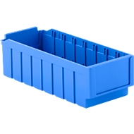 Magazijnbak RK 421, B 162 x D 408 x H 115 mm, 8 vakken, blauw