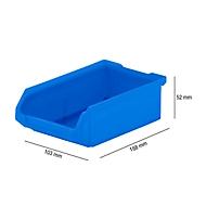 Magazijnbak SSI Schäfer LF 210, polypropeen, L 168 x B 103 x H 52 mm, 0,5 l, blauw