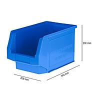 Magazijnbak SSI Schäfer LF 322, polypropeen, L 343 x B 209 x H 200 mm, 10,4 l, blauw