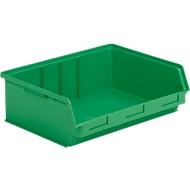 Magazijnbak SSI Schäfer LF 351 ZW, polypropeen, L 348 x B 470 x H 145 mm, 17 l, groen