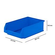 Magazijnbak SSI Schäfer LF 531, polypropeen, L 500 x B 312 x H 145 mm, 16,5 l, blauw