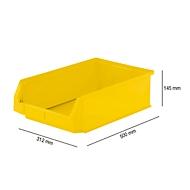 Magazijnbak SSI Schäfer LF 531, polypropeen, L 500 x B 312 x H 145 mm, 16,5 l, geel
