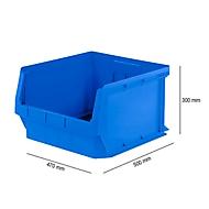 Magazijnbak SSI Schäfer LF 543, polypropeen, L 500 x B 470 x H 300 mm, 57 l, blauw