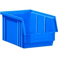 Magazijnbak SSI Schäfer TF 14/7-3Z, polypropeen, L 343 x B 209 x H 145 mm, 7,5 l, blauw, vanaf 1 stuks