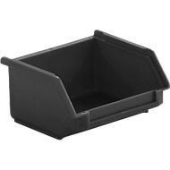 Magazijnbak, zwart, uitw. afm. l 92 x b 102 x h  51 mm, inw. afm. l 63 x b 91 x h 43 mm, inhoud 0,3 l