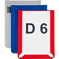 Magneet-insteekhoezen, A6 liggend, transparant, 10 stuks