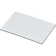 Magnet-Lagerschilder, weiß, 20 x 75 mm