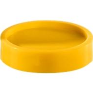Magneten, 34 mm, geel, 10 stuks