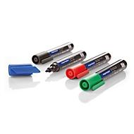 magnetoplan® Board- und Flipchartmarker PRO, Strichstärke 1,5-3 mm, mit Clip, 4 St., farbl. sortiert