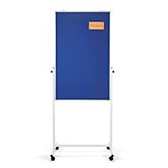 Magnetoplan Universalboard Filz, mobil, 3-in-1, B 750 x T 1200 mm, blau