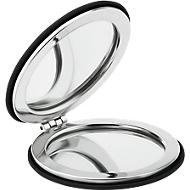 Make-up Spiegel Glow round, rund, mit magnetischem Verschluss, Ø 60 mm, schwarz