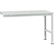 Manuflex aanbouwtafel UNIVERSAL Standaard, tafelblad melamine, 1500 x 1000, lichtgrijs