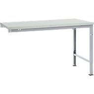 Manuflex Ansatztisch UNIVERSAL Spezial, Tischplatte Melamin, 1500x1000, alusilber