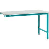 Manuflex Ansatztisch UNIVERSAL Spezial, Tischplatte Melamin, 1500x1000, wasserblau