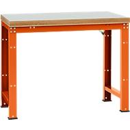 Manuflex basistafel Profi Standard, tafelblad kunststof, b 1250 x d 700, oranjerood