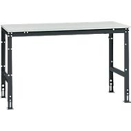 Manuflex Grundtisch UNIVERSAL Standard, Tischplatte Melamin, 1500x800, anthrazit