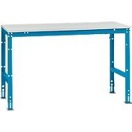 Manuflex Grundtisch UNIVERSAL Standard, Tischplatte Melamin, 1500x800, lichtblau