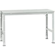 Manuflex Grundtisch UNIVERSAL Standard, Tischplatte Melamin, 1500x800, lichtgrau