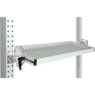 Manuflex Neigbare Ablagekonsole, für Reihe Universal oder Profi, Nutztiefe 195 mm, für Tischbreite 2500 mm, lichtgrau