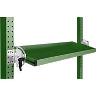 Manuflex Neigbare Ablagekonsole, für Reihe Universal oder Profi, Nutztiefe 195 mm, für Tischbreite 2500 mm, resedagrün