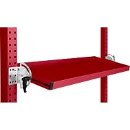 Manuflex Neigbare Ablagekonsole, für Reihe Universal oder Profi, Nutztiefe 345 mm, für Tischbreite 1250 mm, rubinrot
