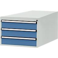 Manuflex Schubladen-Unterbau, für T 1000 mm, lichtgrau/brillantblau