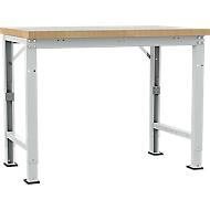 Manuflex werkbank Profi speciaal, tafelblad kunststof, 1250 x 700 mm, lichtgrijs