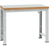 Manuflex Werkbank Profi Standard, Tischplatte Kunststoff B 1250 x T 700, lichtgrau
