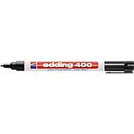 Marker edding 400, fijne punt, zwart, 1 stuk
