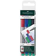 Marker Faber-Castell Multimark, 4er-Set, F, non-permanent