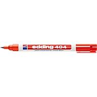 Markers edding 404, met fijne punt, rood, 1 stuk